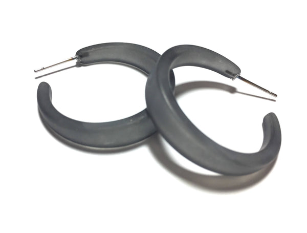 charcoal lola hoop earrings