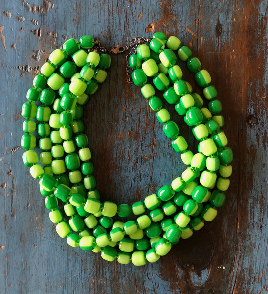 bright green statement necklace