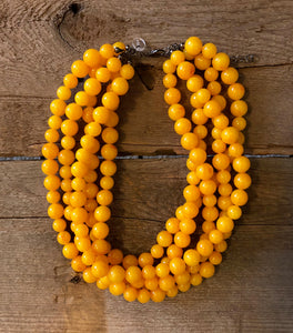 amber lucite necklace