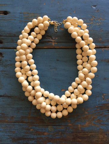 ivory statement necklace