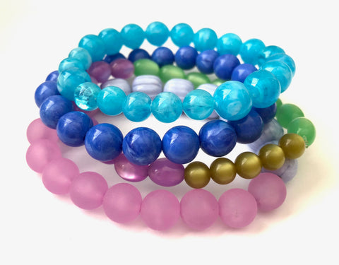 jewel tone bracelets set