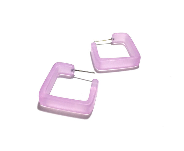 big square hoops lilac