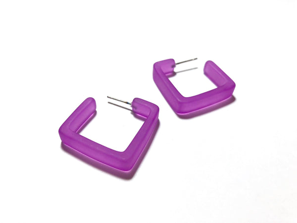 fuchsia violet earrings