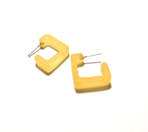 yellow square hoops