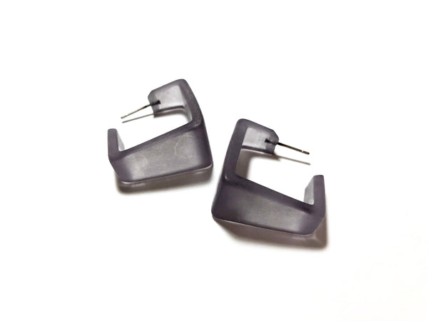 gray lucite earrings