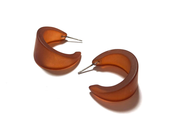 brown vintage earrings