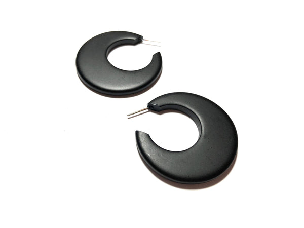 flat black hoop earrings gogo