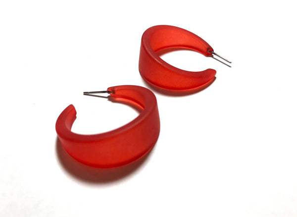 bright red big hoops