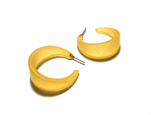 yellow frosted marilyn hoops