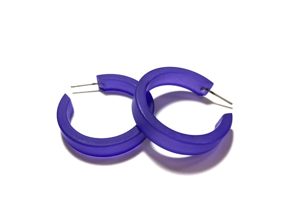 cobalt blue hoop earrings