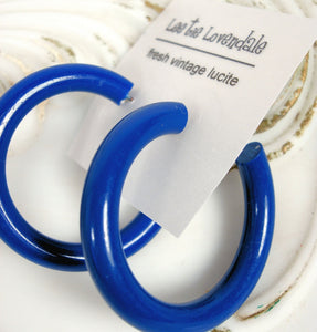blue large tube hoops