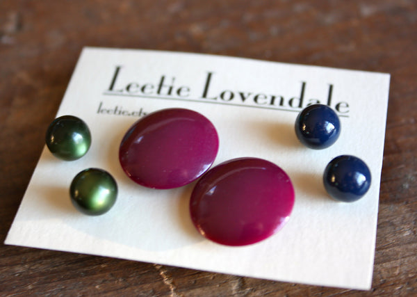 wholesale lucite stud collection