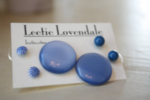 blue earring set