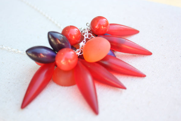 bright red necklace