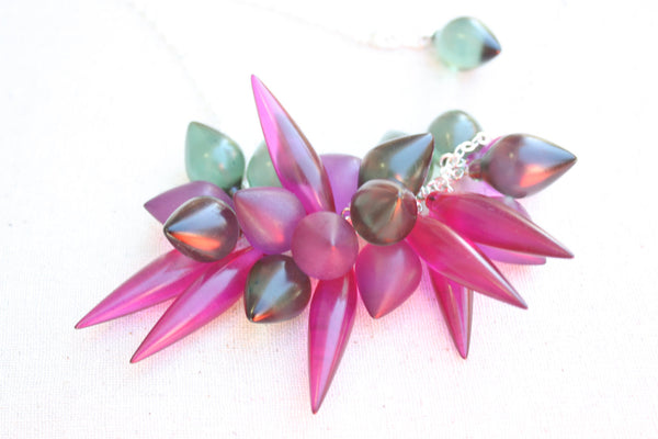 green violet necklace