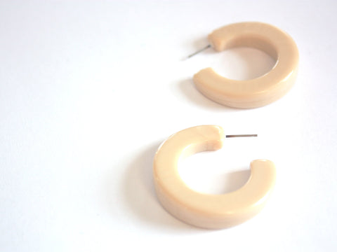 marbled ivory hoops