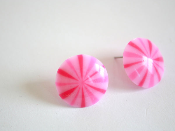 bright pink studs stripe