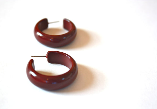 brick red earrings