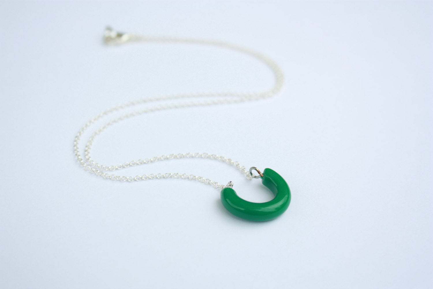 green lucky necklace