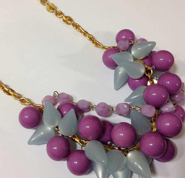 leetie purple statement necklace