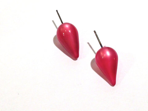 cranberry spike earrings