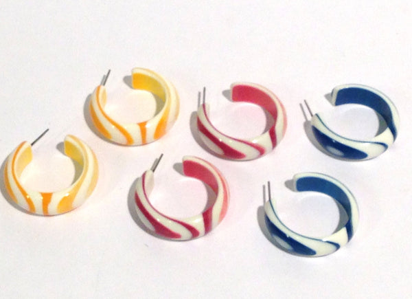 stripe hoop earrings