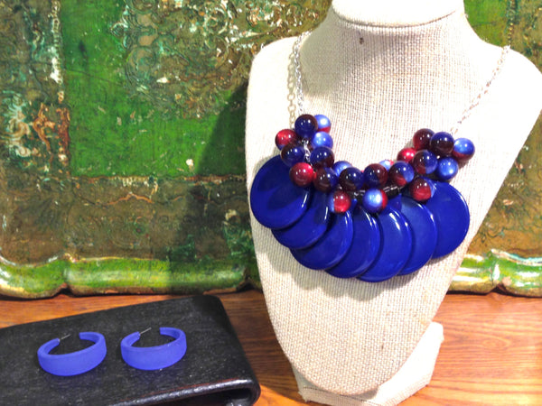 cobalt statement necklace
