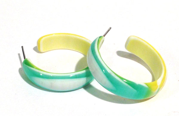mint green stripe hoops