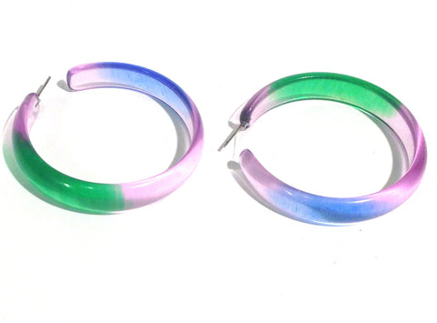huge lucite hoops