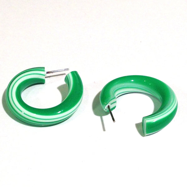 green stripe hoops