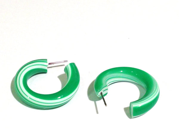bright green hoops