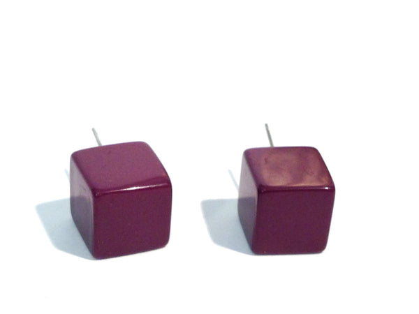 square retro earrings