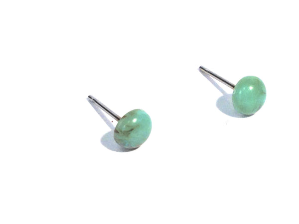 turquoise stud earrings small