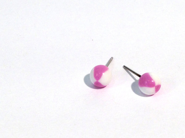 small lavender white studs