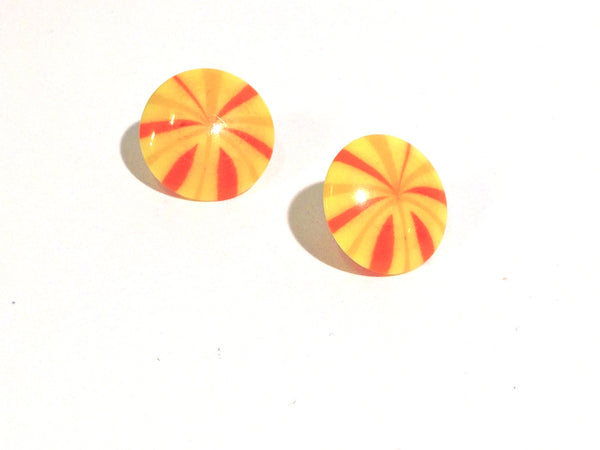 yellow candy earrings