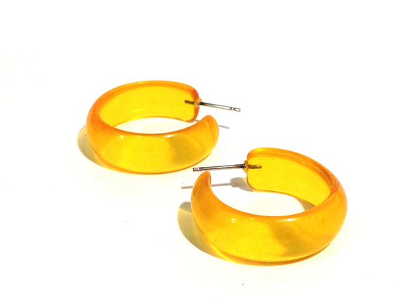 bright yellow simple hoops
