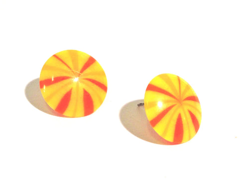 yellow firework earrings