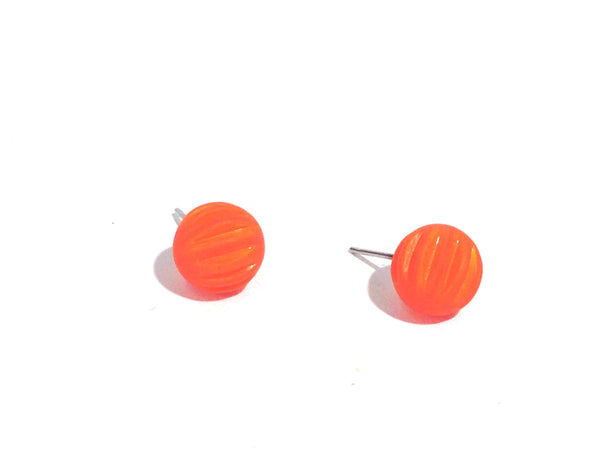 orange post earrings