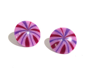 purple fireworks studs