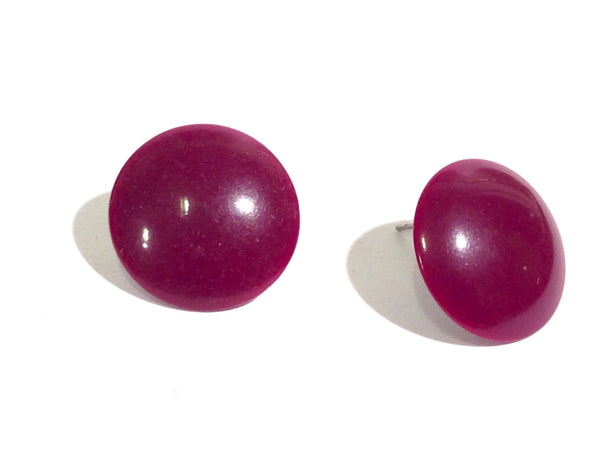 plum purple studs