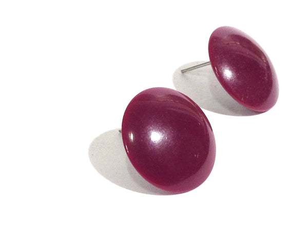 plum purple stud earrings