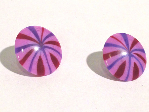 stripe lucite earrings
