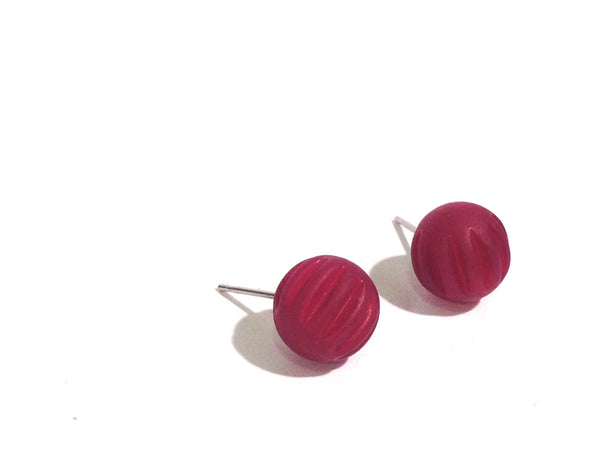 violet surgical steel earrings