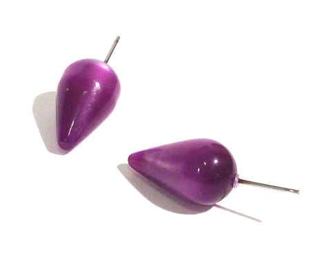 purple spike earrings