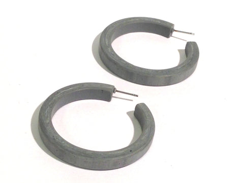 grey classic hoop earrings