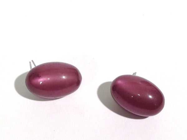 eggplant moonglow studs