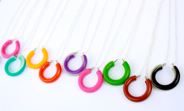 rainbow lucky necklace