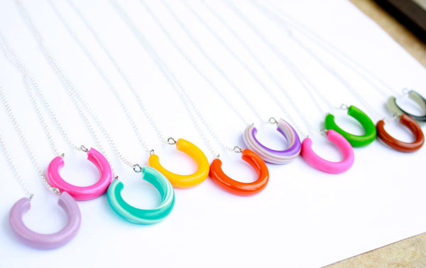 lucite horseshoe jewelry