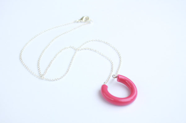 pink lucky necklace