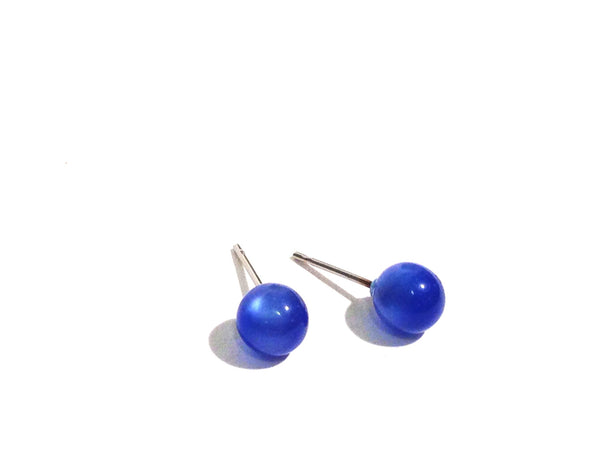tiny blue earrings